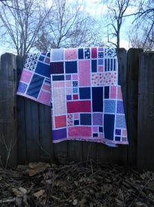 Avery's Quilt artistically draped